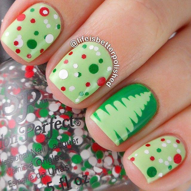 Cute Christmas Nail Art Designs 2 Source
