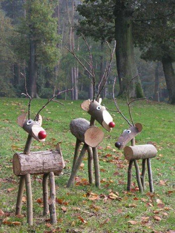 Holiday Time Christmas Decor Set Of 3 Woodland Vine Deer Family Sculpture Com