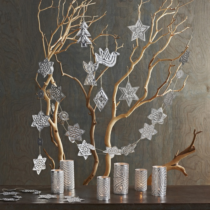Christmas Decorations With Tree Branches: Diy Christmas Decorations Using Tree Branches