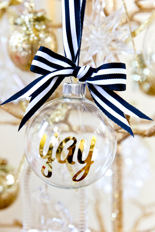 Gold Black And White Diy Christmas Tree Ornaments Via Kara 39 S Party Ideas Karaspartyideas Com