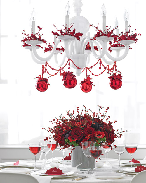 Red Christmas Chandelier Source