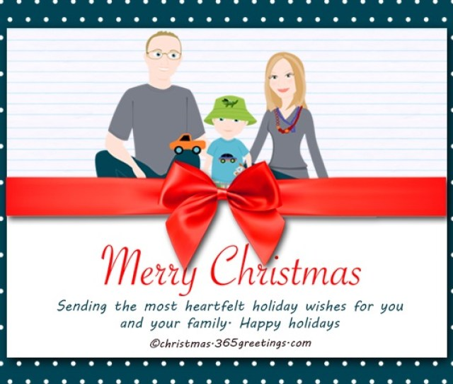 Christmas Card For Family
