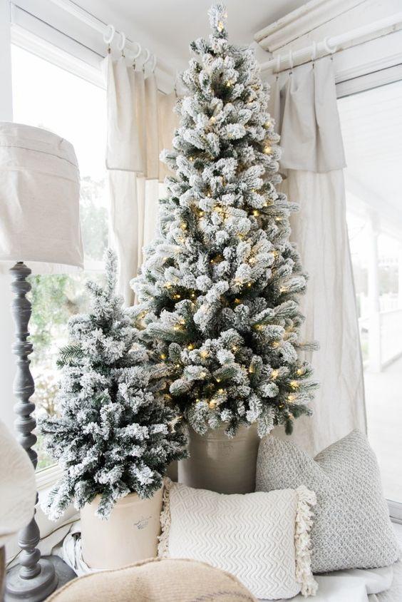 Slim Christmas Tree Decorating Ideas