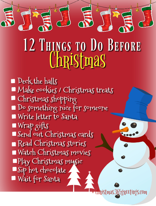 100 Things To Do Before Christmas - Christmas Celebration ...