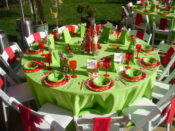 Corporate Christmas Party Table Decorations