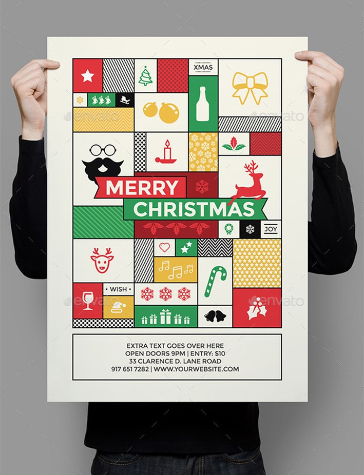 40 Appealing Christmas Poster Designing Ideas All About