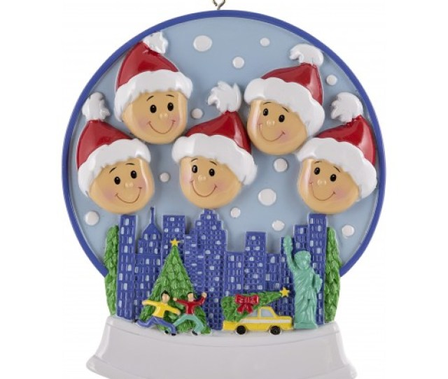 Image Of Snow Globe Family Of  Personalized Christmas Ornament