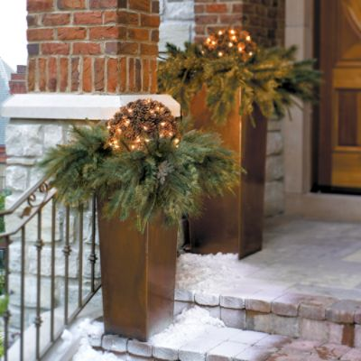 Image Of Large Outdoor Lighted Christmas Decorations