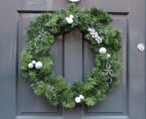Silver Grape Luxury Wreath
