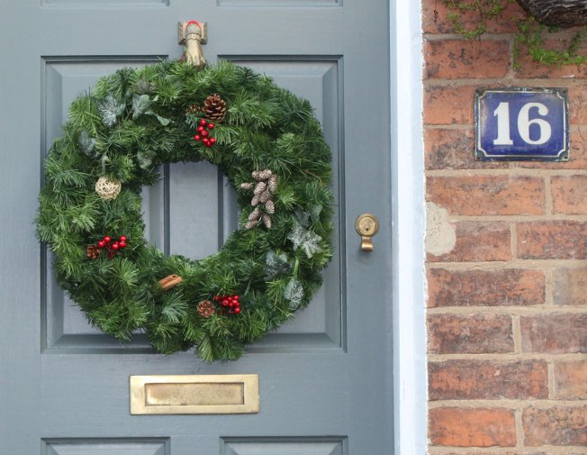 Christmas door wreaths made in the UK