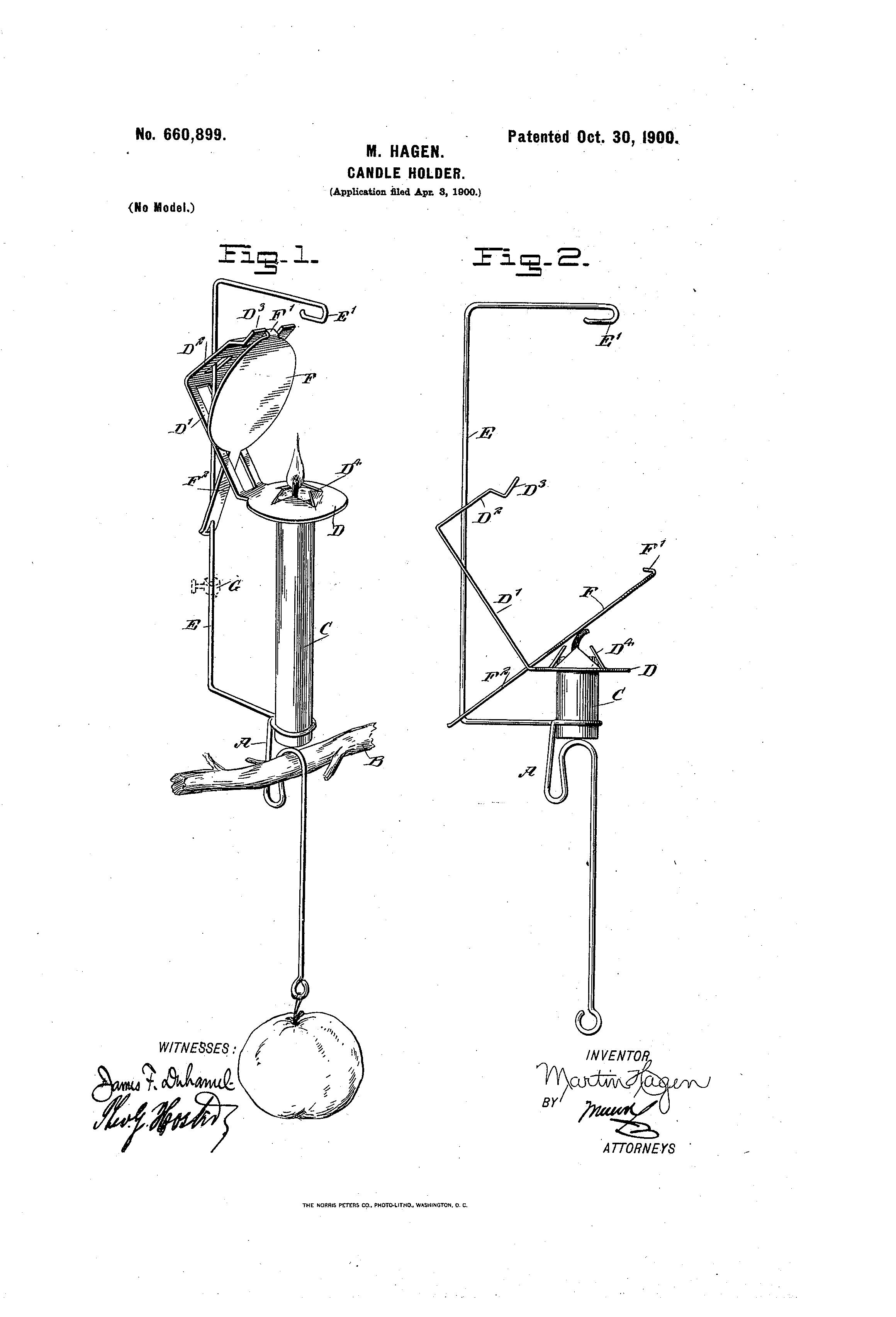 Christmas Tree Pendulum Counter Balance Hanging Candle