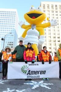 Ameren Louis Lightning Bug at the 2013 Ameren Missouri Thanksgiving Day Parade.