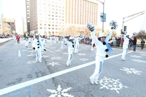 EEST Cheerleaders at the 2013 Ameren Missouri Thanksgiving Day Parade.