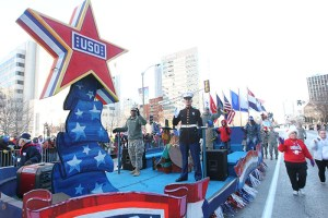 USO Float at the 2013 Ameren Missouri Thanksgiving Day Parade.