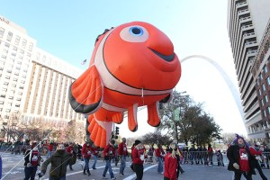 Nemo balloon at the 2013 Ameren Missouri Thanksgiving Day Parade.