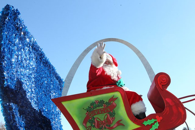 Santa Claus at the 2013 Ameren Missouri Thanksgiving Day Parade.