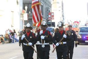 St. Louis Fire Department in Uniform at the 2013 Ameren Missouri Thanksgiving Day Parade.
