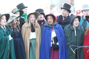 Carolers at the 2013 Ameren Missouri Thanksgiving Day Parade.