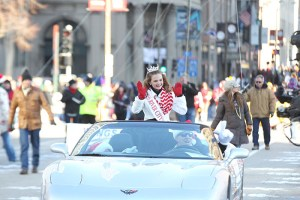 Miss River City at the 2013 Ameren Missouri Thanksgiving Day Parade.