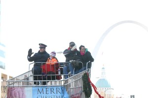 Giant Schnucks cart at the 2013 Ameren Missouri Thanksgiving Day Parade.