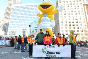 Louis Lightning Bug at the 2013 Ameren Missouri Thanksgiving Day Parade.
