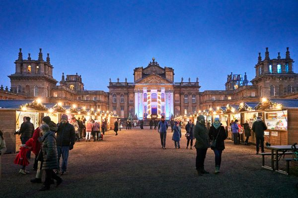 Blenheim Palace Christmas Market Oxfordshire