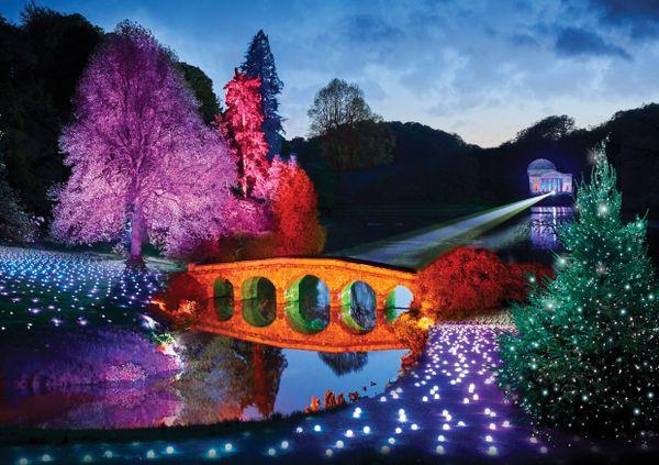 New Light Trail Christmas Illuminations at Stourhead, Wiltshire 2019