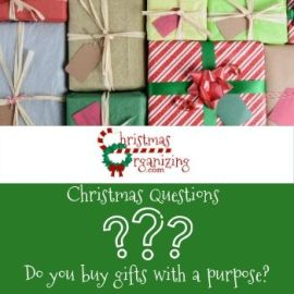 Do you buy gifts with a purpose?