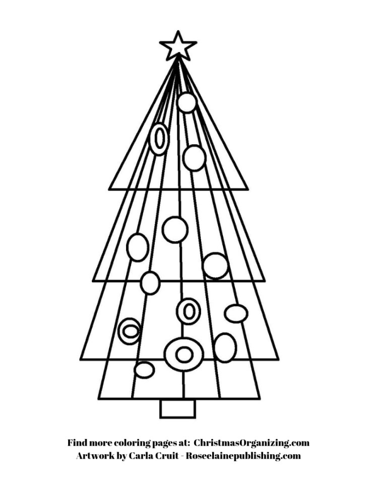 Coloring Page - tree