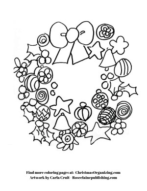 Coloring Page - Wreath