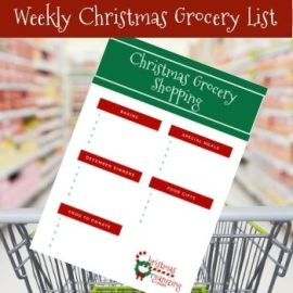 Weekly Christmas Grocery Shopping List