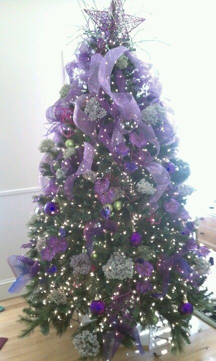 My purple Christmas tree