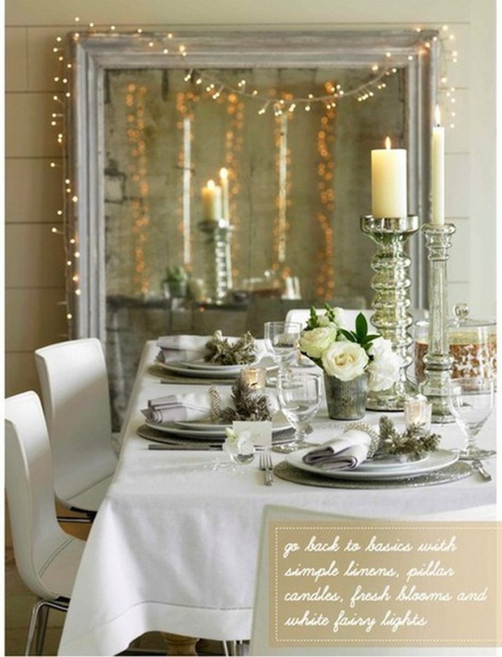 100 Beautiful Christmas Table Decorations From Pinterest Christmas