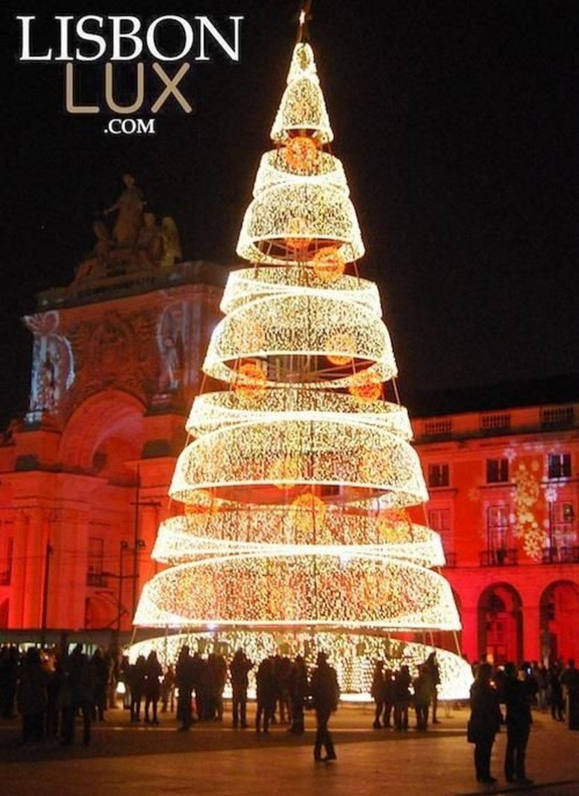 Christmas tree in Lisbon Portugal