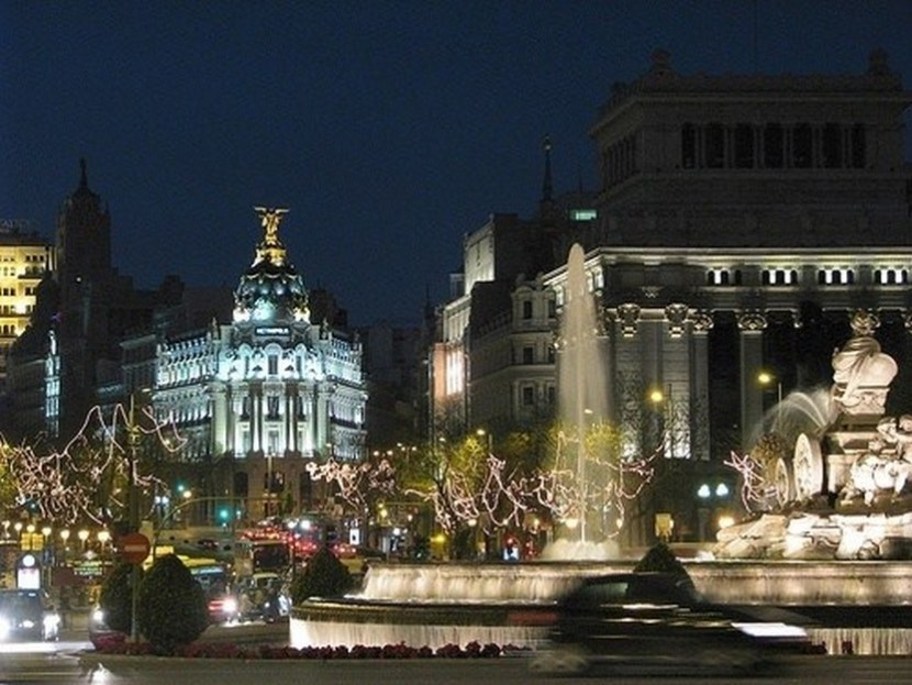 Madrid Christmas lights and sounds