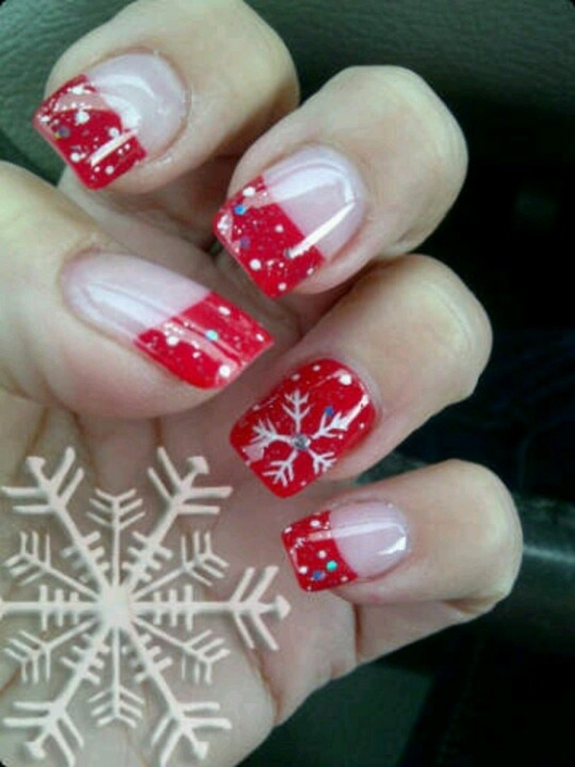 30 festive christmas acrylic nail designs christmas photos winter nails prinsesfo Images