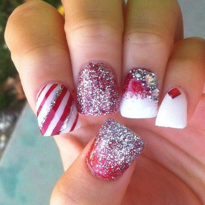 Christmas nails by nailsbylins