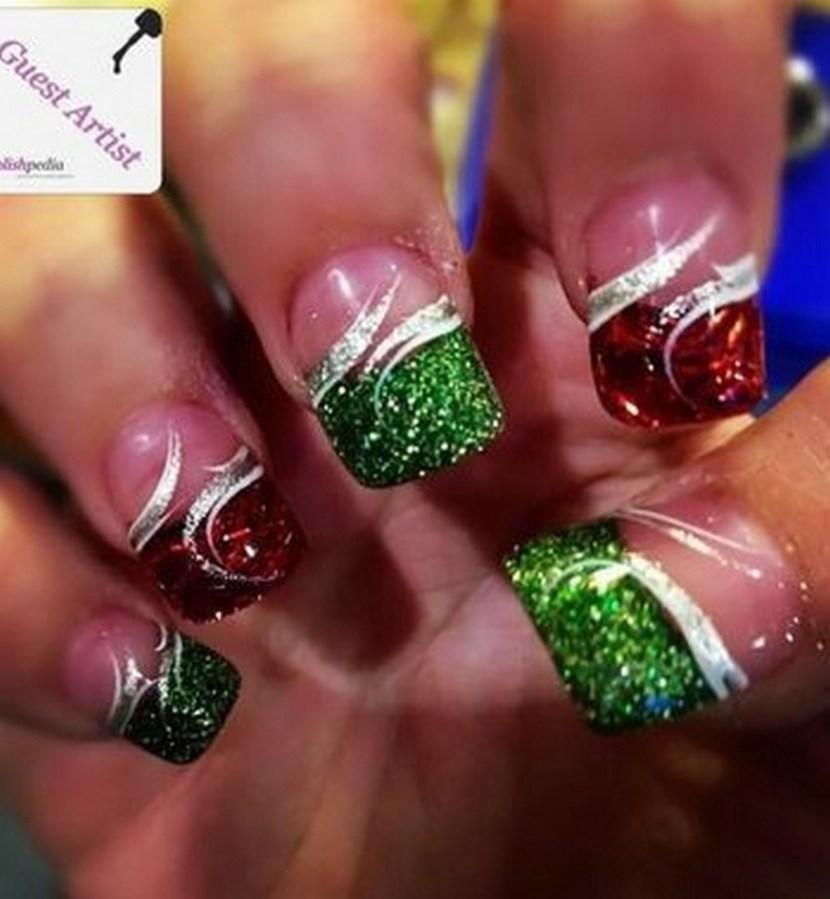 Nails by Amber Gerrish - 30 Festive Christmas Acrylic Nail Designs – Christmas Photos