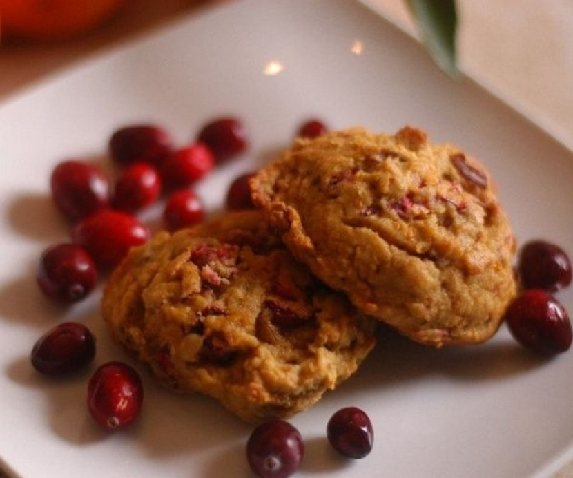 Sweet Citrus meets Tangy Cranberry in this seasonal breakfast cookie