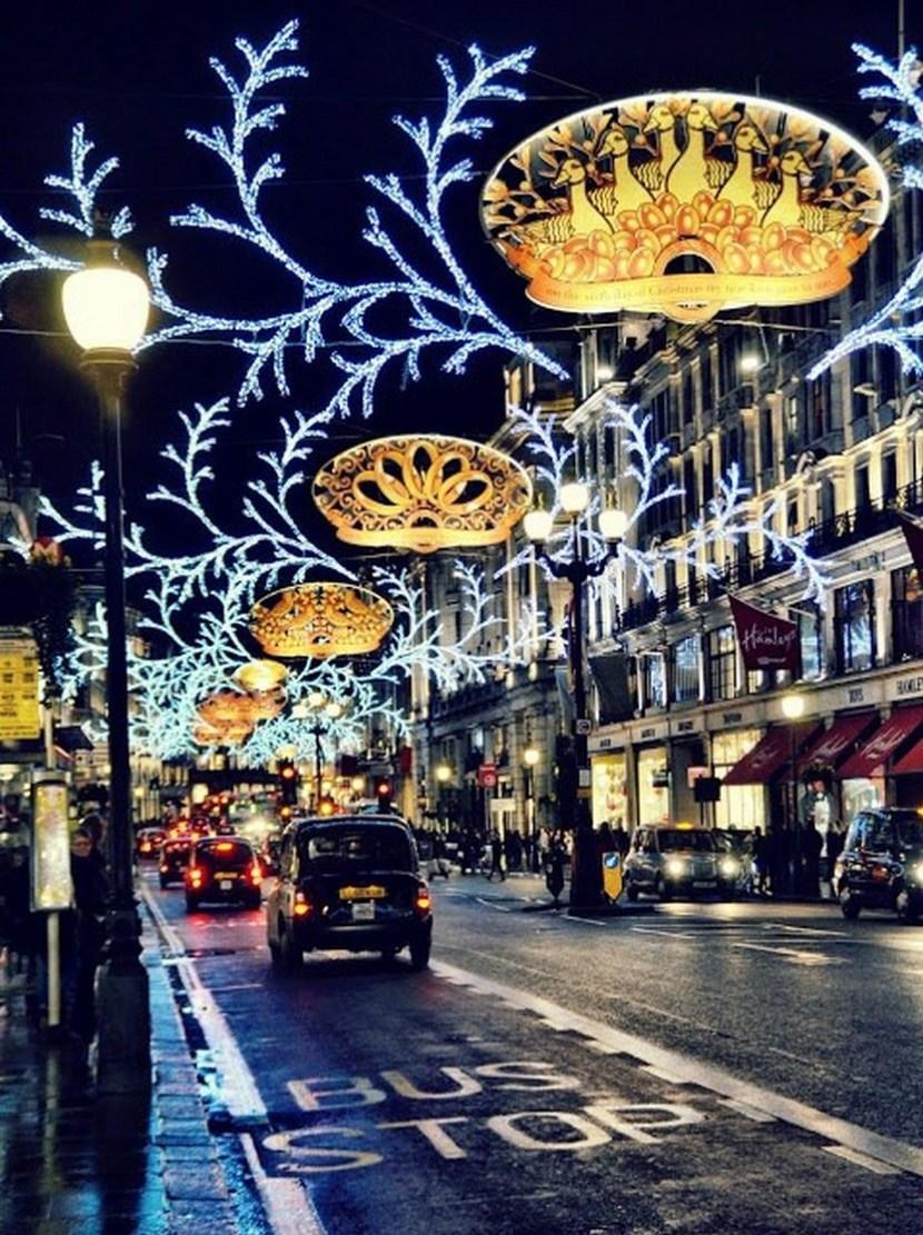 Regent Street at Christmas, London