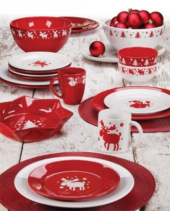 Waechtersbach Dinnerware featuring Red, Christmas, Square, Mugs and Bold Solid Color Plates and Platters