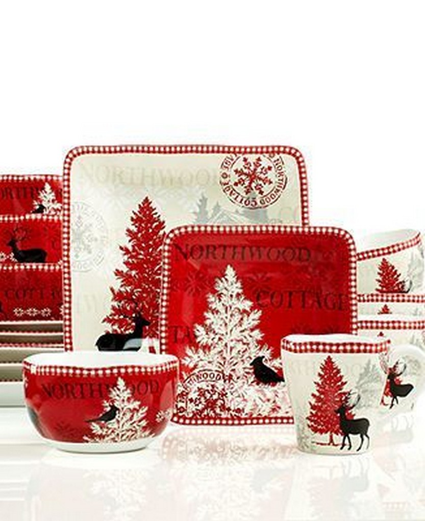 222 Fifth Dinnerware Northwood Cottage 16-Piece Set u2013 Casual Dinnerware u2013 Dining u0026  sc 1 st  Christmas Photos & 57 Beautiful Christmas Dinnerware Sets u2013 Christmas Photos