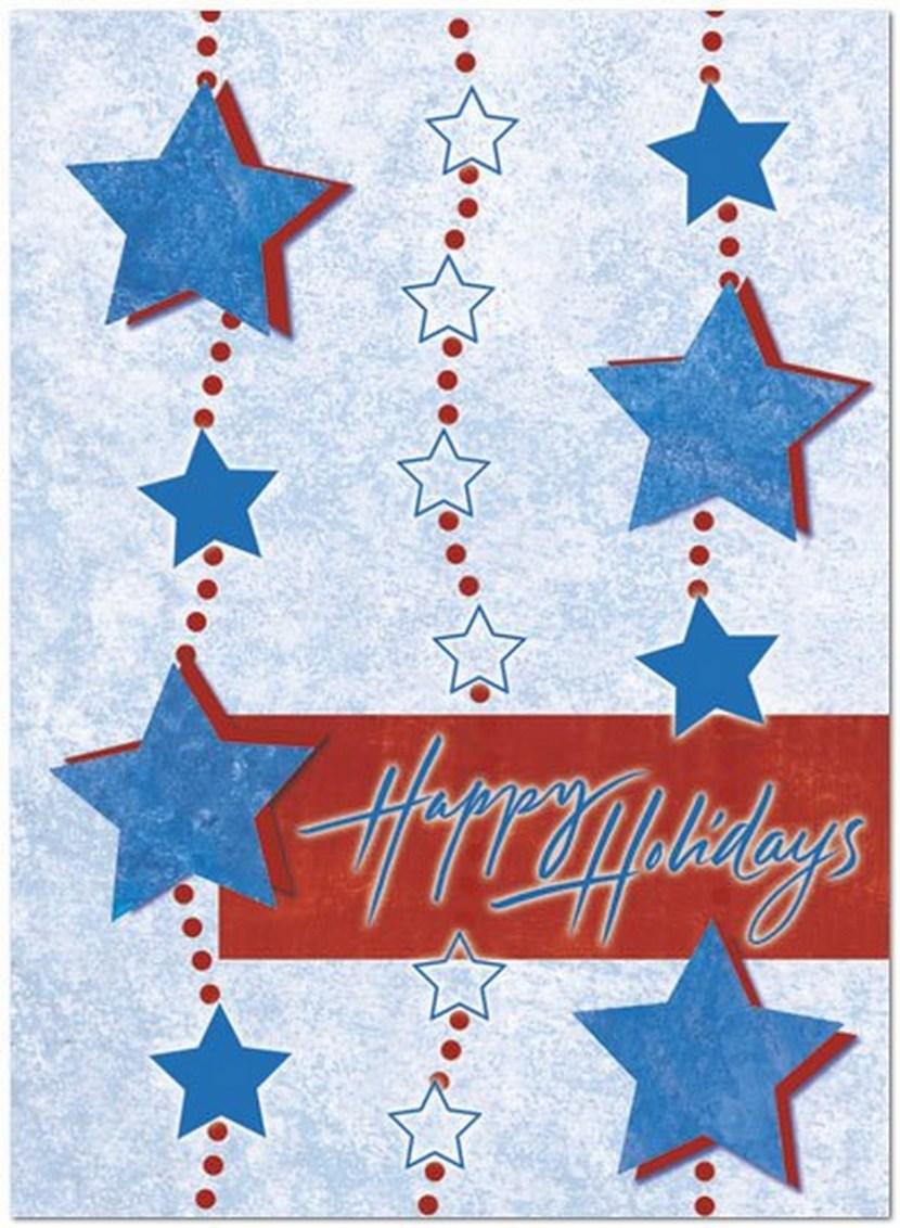 Holiday Star Garland – A patriotic holiday card with star garland