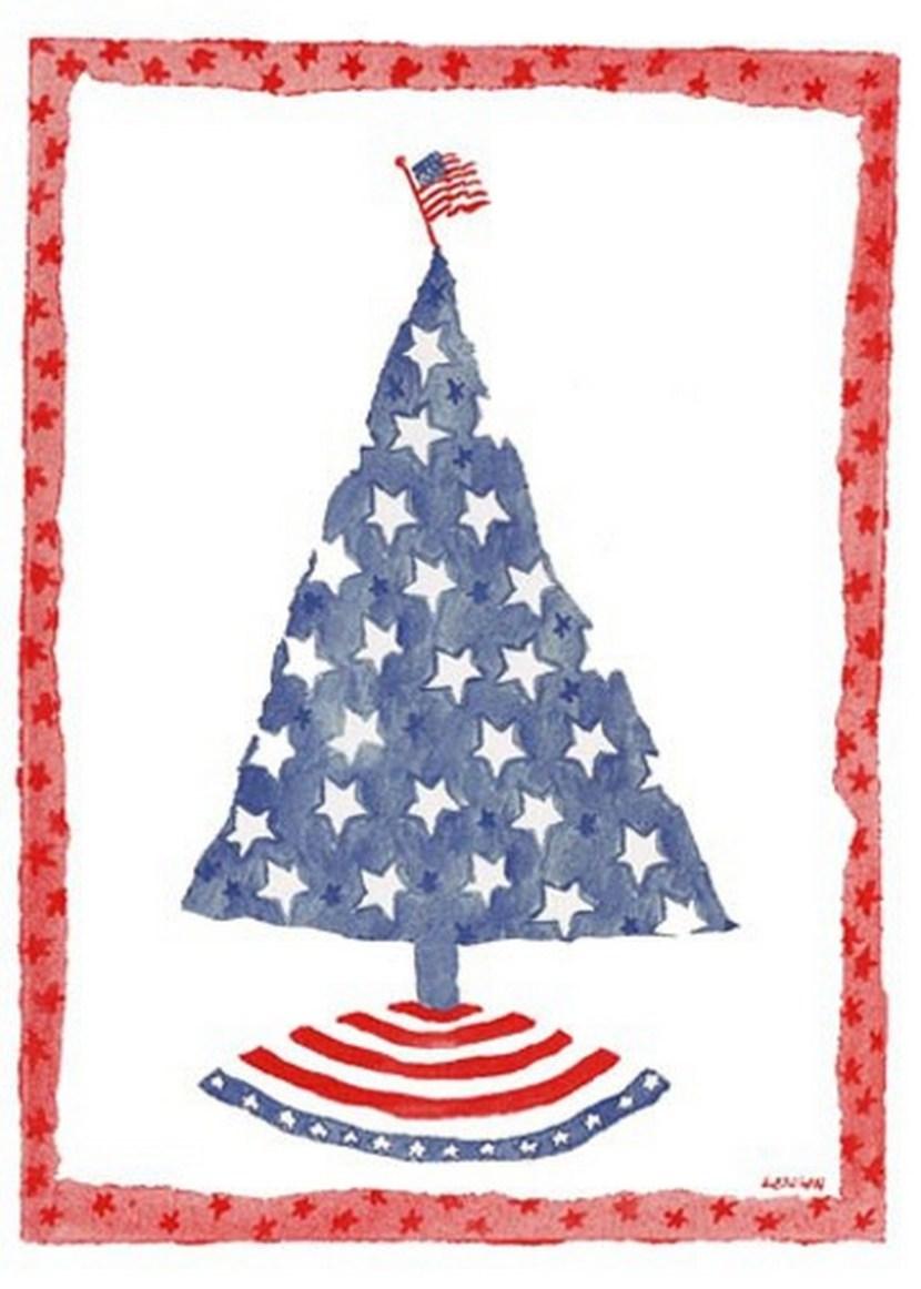 Beautiful Patriotic Christmas Card