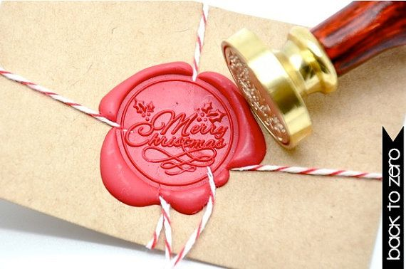 B20 Wax Seal Stamp Merry Christmas Xmas by BacktoZero on Etsy