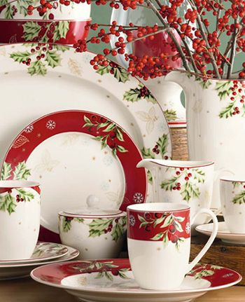 Christmas China - Treasured Traditions by Lenox