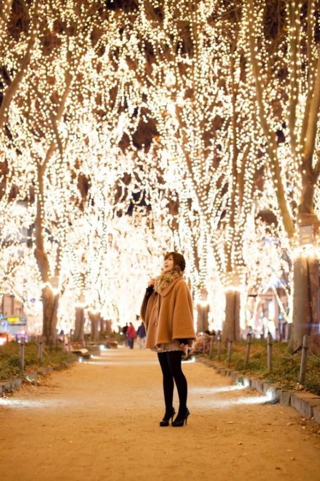 Christmas illumination in Tokyo Japan