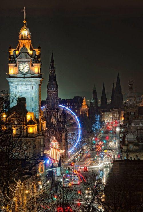 Night Lights, Edinburgh, Scotland - Why you need to visit Edinburgh this year