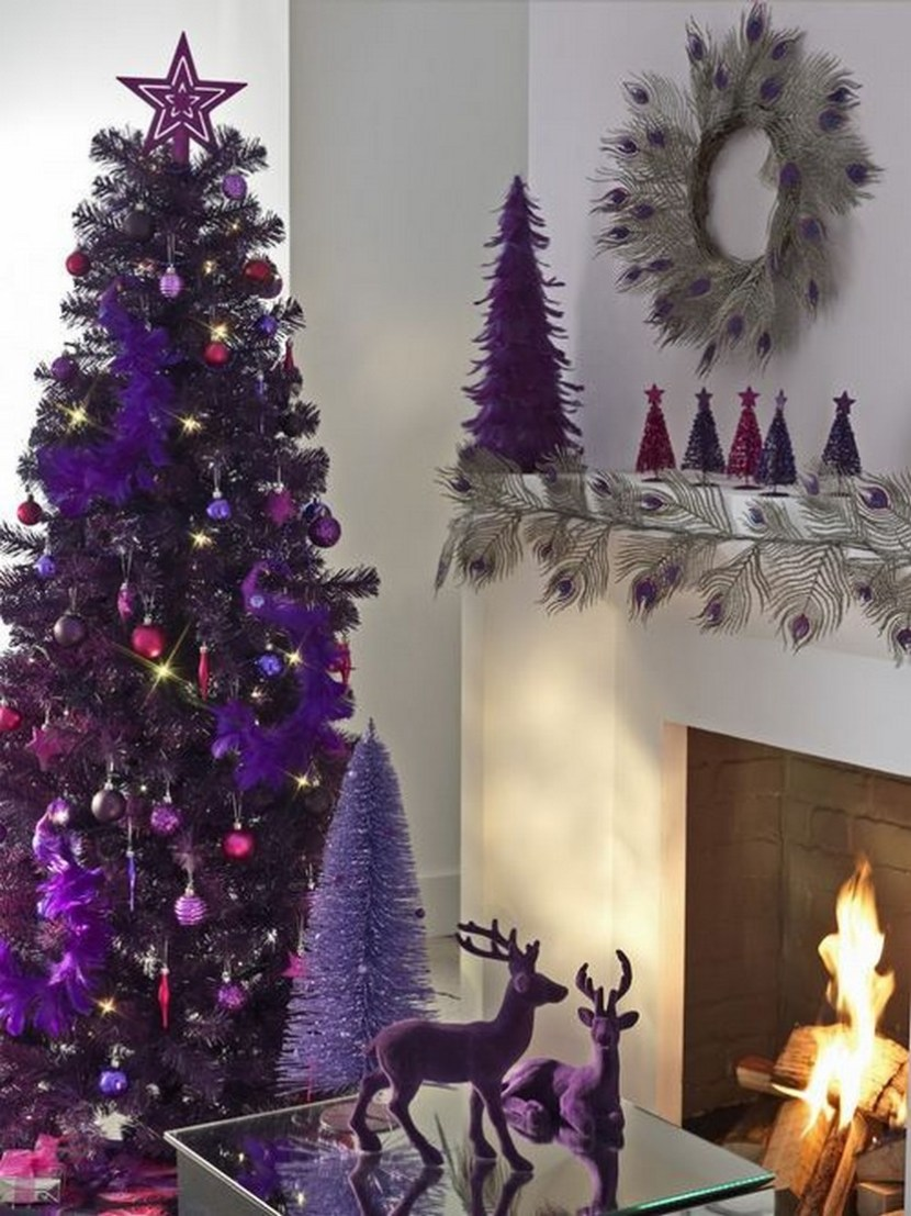 Beautiful purple Christmas tree