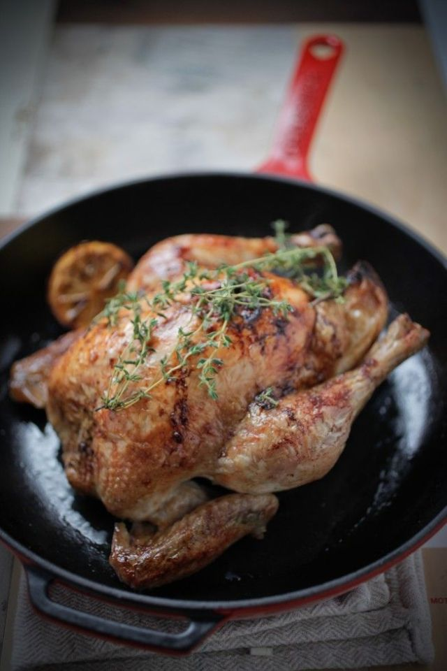 Roast Chicken Graded-3613 – the pear, pistachio and cranberry stuffing will be great for Christmas turkey too